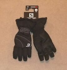 NEW SALOMON CRUISE LADIES SKI GLOVES (Medium) BLACK