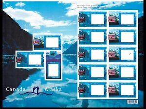 #1991C 1991D full sheet Canada Alaska cruise (#E16)