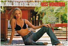 Coupure de presse Clipping 2002 (4 pages) Inna Zobova Miss Wonderbra