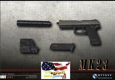 1/6 Agent Pistol MK23 SOCOM Weapon Gun Model For 12