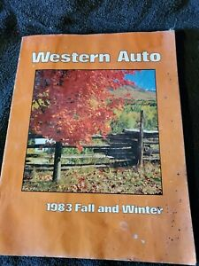 1983 Fall And Winter Western Auto Catalog