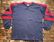 JC PENNEY USA Olympic Blue and Red Pullover Sweatshirt Cotton Blend size XL