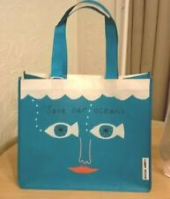 Donna Wilson Eco Shopping Bag Blue/Green Reusable Recycled Bottle Save Our Ocean