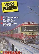 VOIES FERREES N°63 LORRAINE : AU PAYS DU FER / CC 72000 JOUEF / SYBIC / DDR