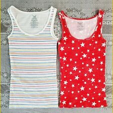 Bundle Of Two NWOT Womens Cotton Poly Spandex stretch M Tanks
