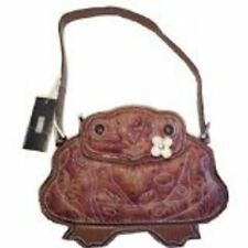 Designer Brentano Frog Bag Purse Handbag Collectible Brown New