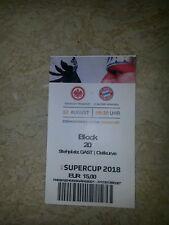 Top Sammler Ticket Eintracht Frankfurt vs FC Bayern München DFB Supercup 2018
