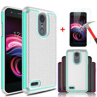 For LG Aristo 3/Tribute Empire/Rebel 4/Phoenix 4/Fortune 2 Case+Screen Protector