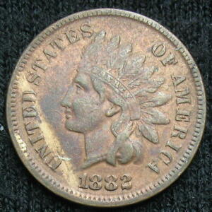 US Indian Head Cent 1882