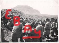 WWII GREAT 8X10 PHOTO MEMORIAL MASS ON IWO JIMA MT SURIBACHI 5TH US MAR DIV