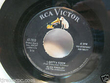 Elvis Presley I gotta know& Are you lonesome tonight 47-7810  RCA 45 record