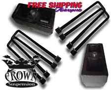 """Crown Suspension 1500HD 2500HD 3500HD 4"""" REAR LIFT BLOCK KIT STEEL BLOCKS UBOLTS"""