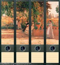 File Art 4x Ordner-Etiketten SUMMER EVENING Ordner RÜCKENSCHILDER Sticker 005