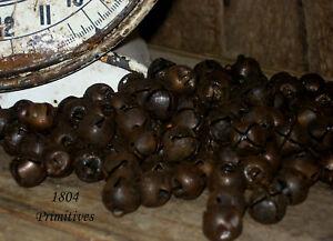 "144 Primitive Rusty Tin Jingle Bells 13mm ~ approx 1/2"""