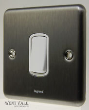 Legrand Synergy - 7330 01 - 10a Brushed Steel 1 Gang 2 Way Plate Switch