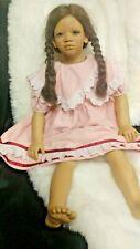 "Annette Himstedt Doll Bi Racial - Lona - - Images Of Childhood 28"" Aa Blue eyes"