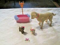 Barbie Luv Me 3 Taffy Dog & Puppies Lot (B)