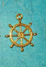 Pendant Ships Wheel Charm Nautical Charm Pirate Mermaid Treasure Charm Cruise