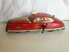 "Car Marx 11"" Tin Fire Department Chief Toy NO.1 - 1940's"