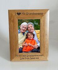 Grandparents Photo Frame - I heart-Love My Grandparents 4x6 Photo Frame Free Eng