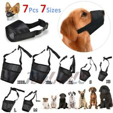 7Pcs Dog Muzzle Anti Stop Bite Barking Chewing Mesh Mask Training S-Xl Size#1-#7