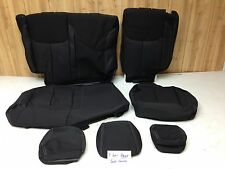 MOPAR 2013-2017 JEEP WRANGLER JK JKU SAHARA 4 DOOR BLACK SEAT COVERS REAR