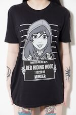 Twisted Apparel Red Riding Hood Tattoo Mugshot T Shirt cute pinup emo gothic