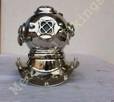 Chrome Brass Metal Diving Helmet Diver Navy Full Brass Mini Vintage Decor Helmet