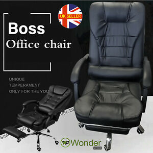 Luxury Computer Racing Gaming Chair Swivel Black Recliner Office Home Chair Uk