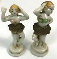 Antique Vintage Porcelain Ballerinas Dancing Ladies Figurines, Made in Japan