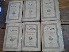Philosophie tomes 1,2 ,3 ,4, 5, 6  œuvres complètes de Voltaire Tomes 43 au T 48