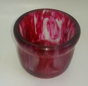 Epoxy Resin Jar red and black swirl made on my lathe