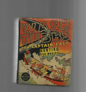 VINTAGE BIG LITTLE BOOK WASH TUBBS and CAPTAIN EASY Hunting Whales 1933 Whitman