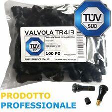 100 Valvole Tubeless TR413 (Corte) ideale per cerchio in Lega AUTO E MOTO