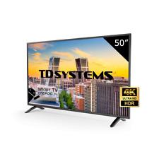 "Televisor 50"" Led 4K UHD Smart TV TD Systems K50DLM8US. 3x HDMI, 2x USB"