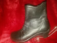 ARAVON Maeve Pebbled Perforated Zip Ankle Boots WOM05BK Women's US 7AA Black""
