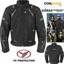 GERMOT Motorradjacke X-AIR EVO PRO schwarz gelb wasserdicht Protektoren Gr. 8XL