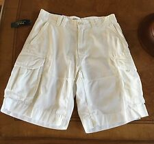 NWT Polo Ralph Lauren Cargo Relaxed Fit Shorts White 32