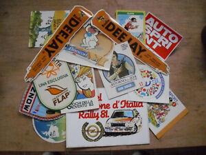 VINTAGE lotto 15 adesivi/decalcomanie SPORT RADIO e VARIO