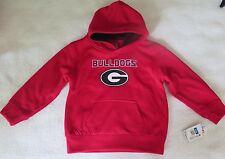 Colosseum Athletics Boys' Georgia Bulldogs Red Poly Fleece Hoodie Medium (5) NWT