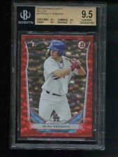 2014 Bowman Draft Alex Verdugo Red Ice Red Sox BGS 9.5