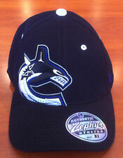 Zephyr Vancouver Canucks Hockey Flex Fit Hat Cap Revolt Hockey NHL Youth