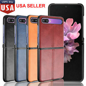 Leather Phone Case Split Phone Cover Shell For Samsung Galaxy Z Flip Phone #USA