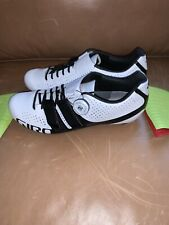 NEW Women's Giro Factress Techlace Cycling Shoes White/Black Size 8.5 US / 40 EU