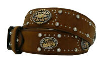 Tony Lama CENTENNIAL Western Showgirl Brown Leather Belt   Size 32 NWT