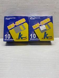 "Ten (10) 3.5"" IBM Formatted Diskettes 1.44 MB MF-2HD KHypermedia  2 Boxes"
