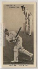 Cricket Evolution 1837 Player In Top Hat And 1937 Cricket Batsman 80 Y/O Ad Card