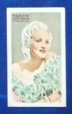 Marlene Dietrich 1934 Gallaher Champions of Screen & Stage Cigarette Card #47