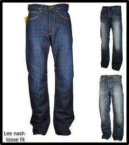 jeans lee uomo pantaloni larghi gamba larga hip hop a zampa bootcut w31 w33 46