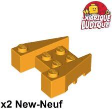 Lego - 2x Wedge 3x4 stud notches brique brick bright light orange cl 50373 NEUF